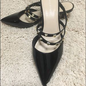 Marc Fisher Black Patent Studded Shoes